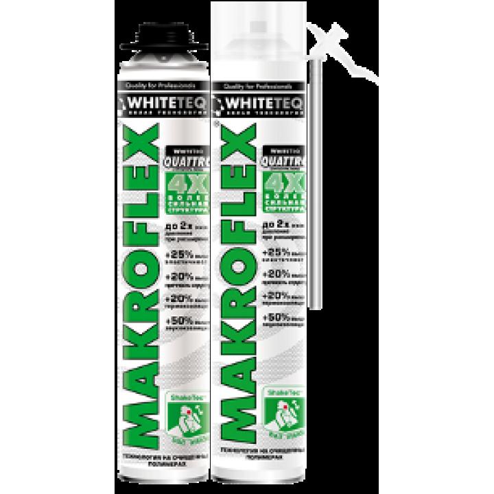 Пена монтажная Makroflex WhiteTeq Белая технология стд. всесезонная, 750мл (1947710)