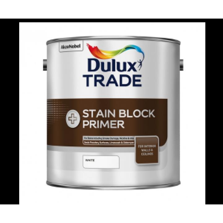 Грунтовка Dulux Trade STAIN BLOCK PRIMER для блокировки старых пятен белая 2,5л (5183369)