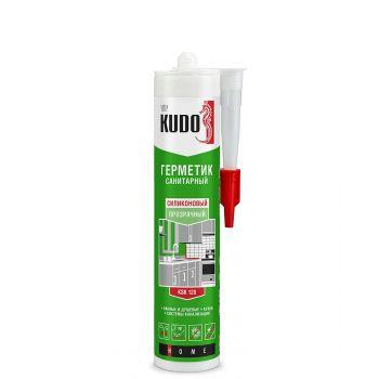 Герметик KUDO силиконовый санитарный прозрачный 280 мл