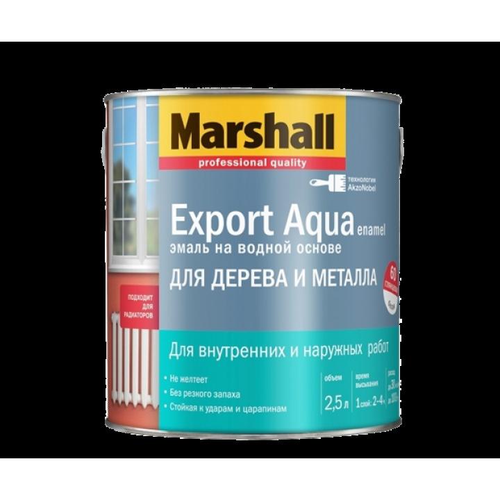 Эмаль Marshall EXPORT AQUA полуматовая белая 0,8л (5235329)