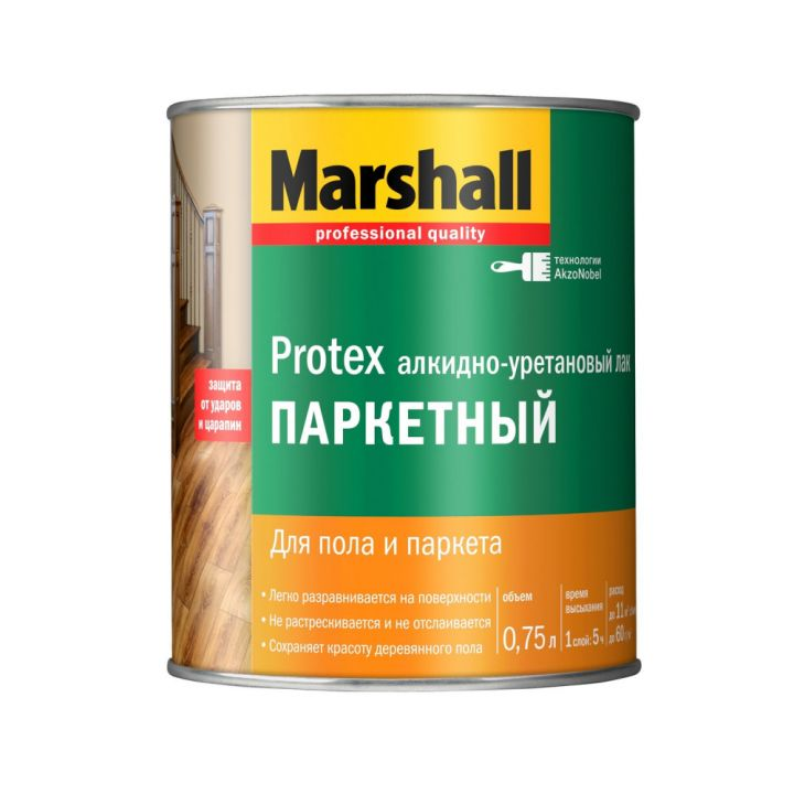 Лак Marshall PROTEX ПАРКЕТНЫЙ глянцевый 0,75л (5255005)