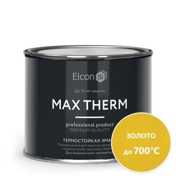Термостойкая антикоррозионная эмаль Elcon (700) золото 0,4 кг/24