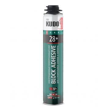 Клей полиуретановый профессиональный всесезонный для строительных блоков KUDO PROFF 28+