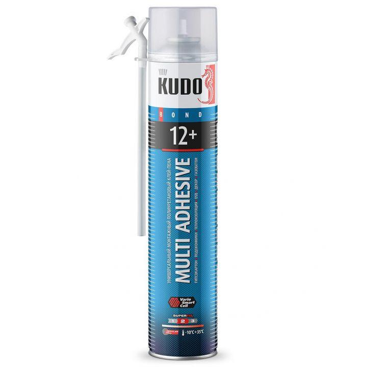 Клей-пена полиуретановый монтажный бытовой всесезонный KUDO НОМЕ 12+ (KUPH10UAU)