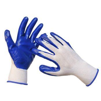 Перчатки Classic-Grip, 11/XXL для малярных, строительных и бытовых работ, вязаные из полиэстра с нитрильным покрытием на ладони и пальцах
