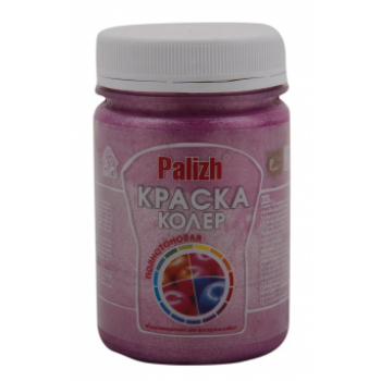 """№ 173, Колер.паста """"Палитра""""(0.25 л.) розовый металлик / упаковка - 6 шт."""