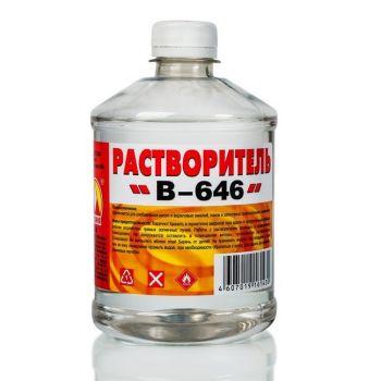 Растворитель В-646  0,5 л (пэт/т) Вершина / упаковка - 20 шт.
