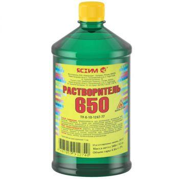 Растворитель 650, 0.5 л Ясхим / упаковка - 25 шт.