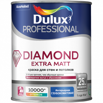 Краска Dulux Trade Diamond Extra Matt глуб/мат BW 1л